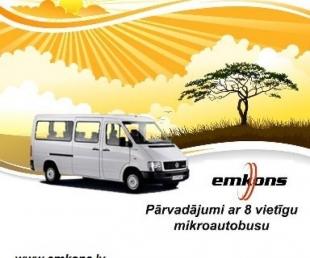 Mikroautobusa pakalpojumi. Braucieni pa visu Latviju un Eiropu. Mikroautobusa noma.
