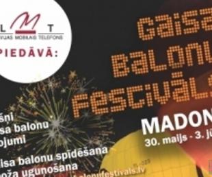 Gaisa balonu festivāls Madonā(ARHĪVS)