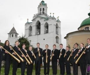 Krievu medību ragu kapela arī Latvijā(ARHĪVS)