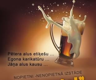 """Alus kausu, alus etiķešu un karikatūru izstāde """"Lai puto!""""(ARHĪVS)"""