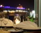 Demokrātisks restorāns Ostas skati