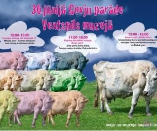 Govju parāde Ventspils muzejā(ARHĪVS)