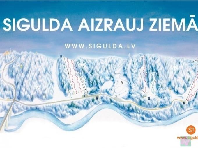 Siguldas slēpošanas trases atklāj sezonu un prezentē ziemas karti(ARHĪVS)
