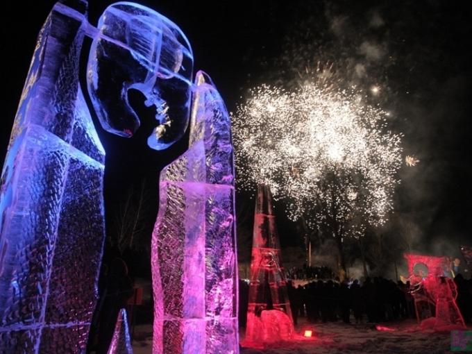 Starptautiskais Ledus skulptūru festivāls Jelgavā(ARHĪVS)