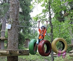 Ērgļu pusē darbu uzsācis atrakciju parks «Braku takas»(ARHĪVS)