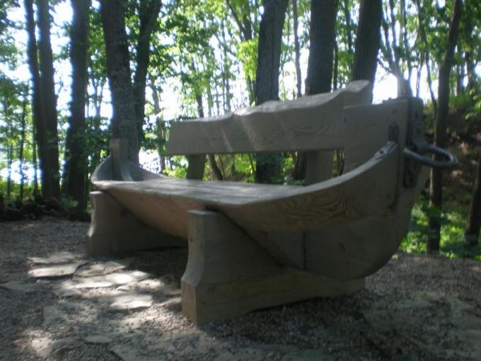 Laivas Kokneses parkā