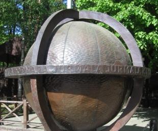 Latvijā lielākais globuss