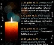 Balvu novada pasākumu plāns decembrim.(ARHĪVS)