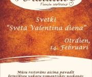 """Valentīna diena  franču restorānā """"RATATUI""""(ARHĪVS)"""