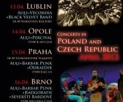 """Bungu un dūdu mūzikas grupas """"Auļi"""" koncerttūre Čehijā un Polijā(ARHĪVS)"""