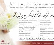 Atvērto durvju diena kāzu un citu svinību rīkotājiem Jaunmoku pilī(ARHĪVS)