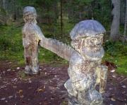 Koka skulptūras
